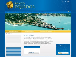 Website for Banco Equador